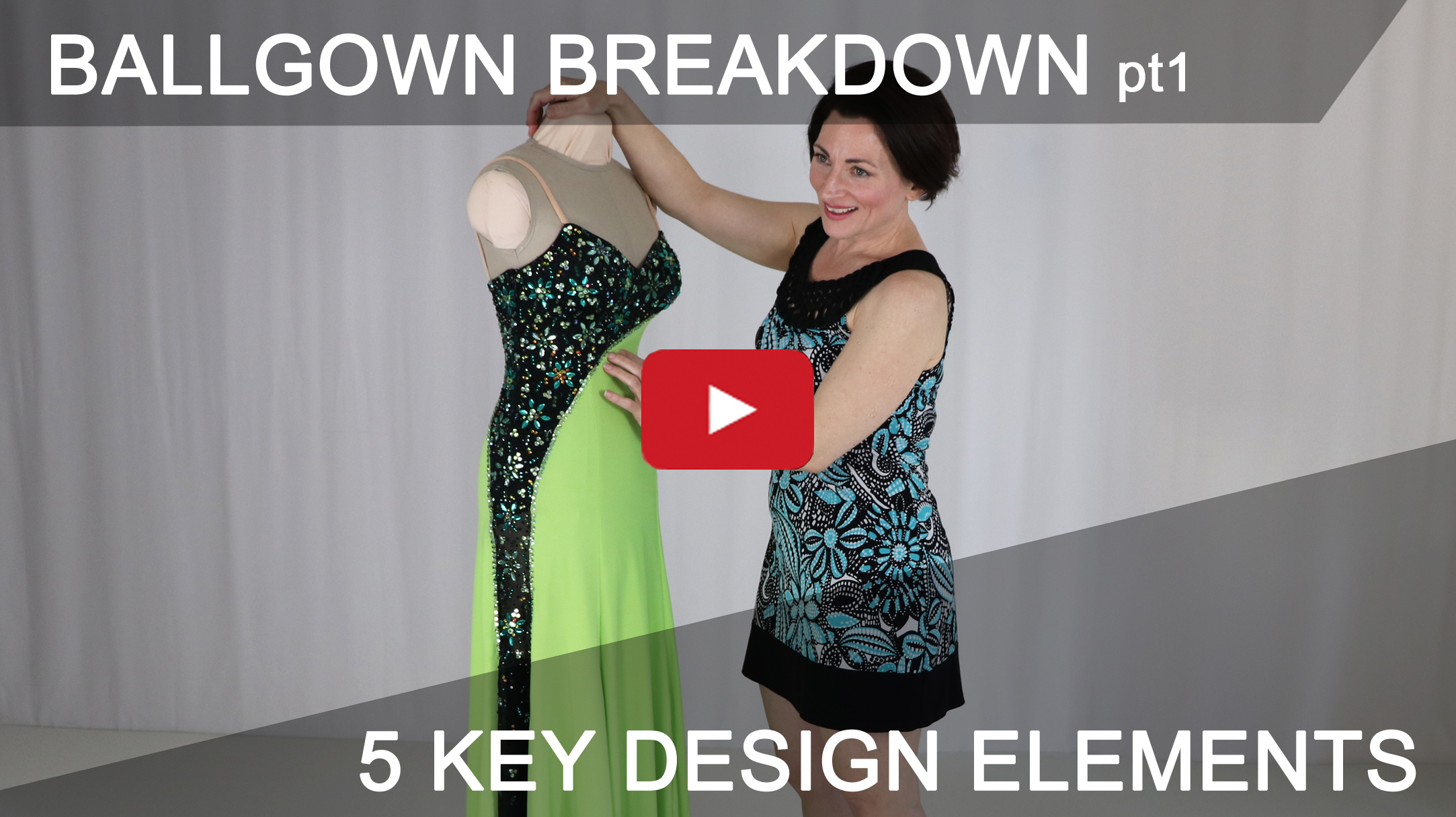 5 key design elements that can be used on most Ballroom, Country and Skate dresses.
