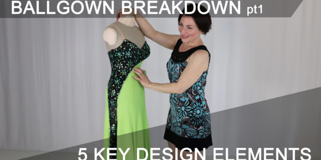 5 key design elements for a competition Dancesport ballgown