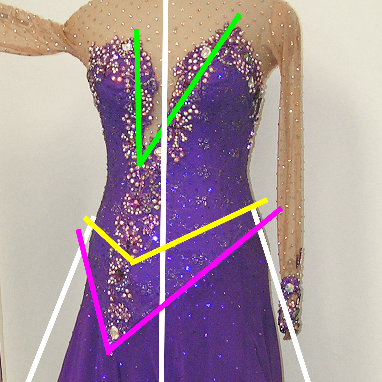 design dresses for competition Dancesport, ballroom, Latin, Country and skate dresses