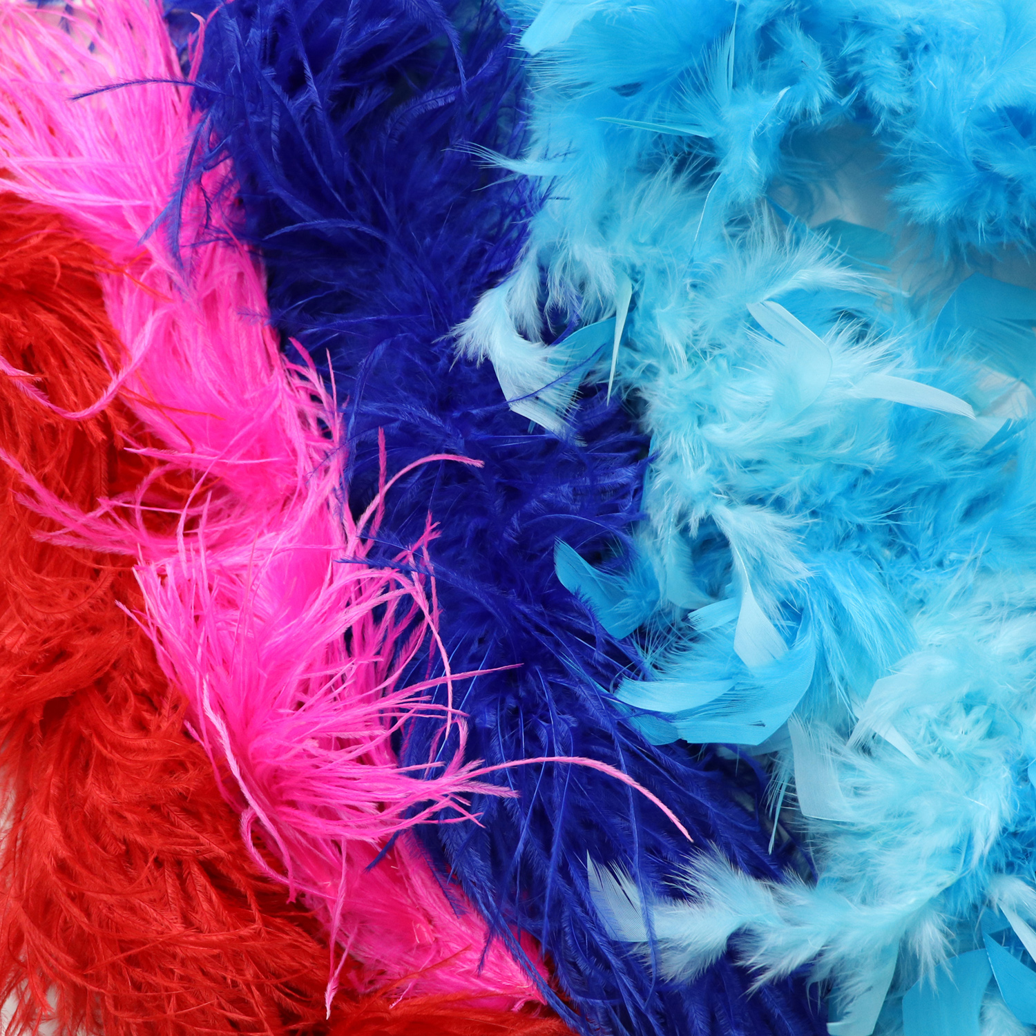 Feathers for competition Dancesport, ballroom, Latin, Country dress, ostrich boas, coque feathers, goose feathers