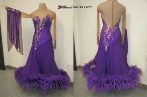 Dress Breakdown a competition Dancesport ballgown, before