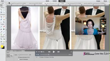 Redesign an off-the-rack Dancesport ballgown to be more flattering