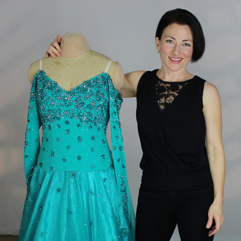 Teresa Sigmon, creator or the SEW LIKE A PRO™ training series, teaching YOU to make professional quality dance and skate costumes