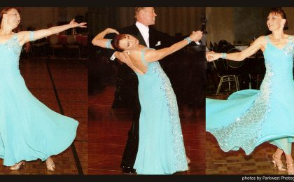 Teresa Sigmon shares three ways to change this Dancesport gown.